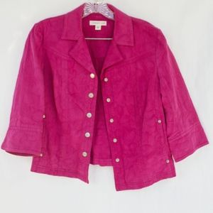 CUTE! Pink Coldwater Creek Jacket texture pattern